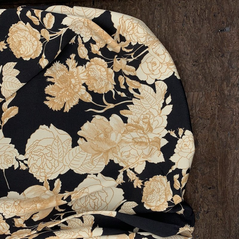 Viscose Crepe - Neutral Floral - Italy