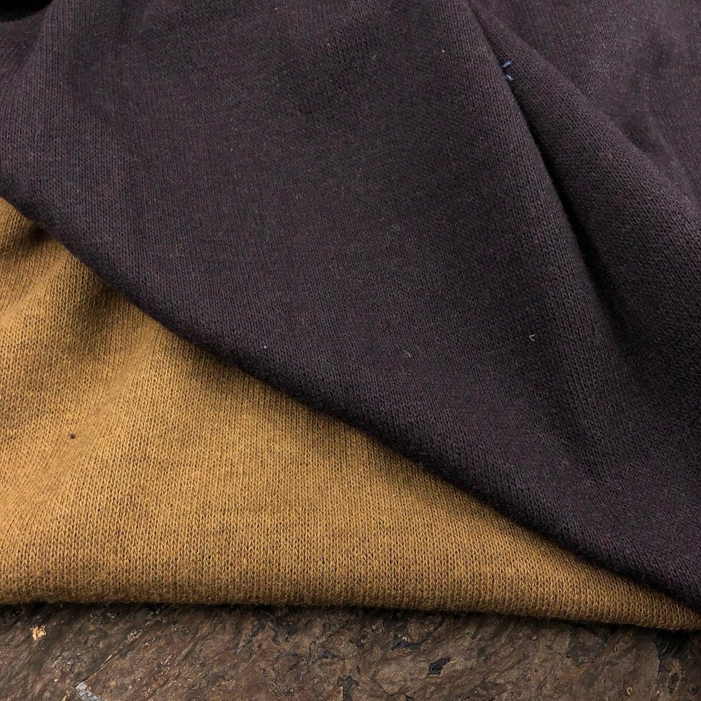 REMNANT - 2/3 yd  - Double Faced Wool Knit - Toffee/Dark Brown