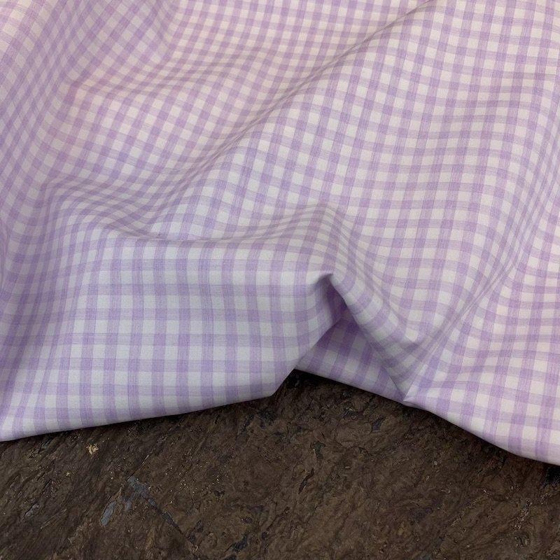 Purple Check - Italian Cotton Shirting