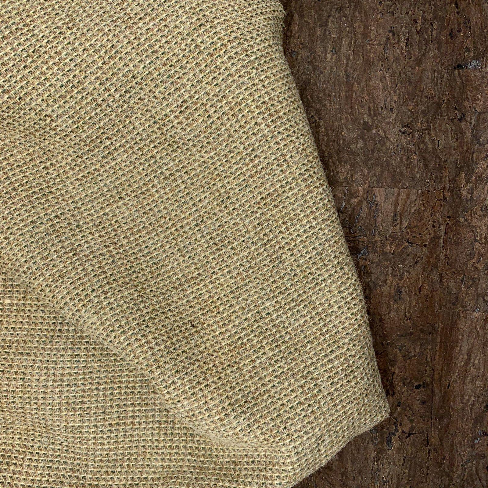 Designer Wool Coating - Green & Beige Weave