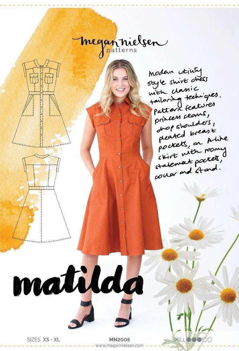 Matilda Shirtdress - Megan Nielsen