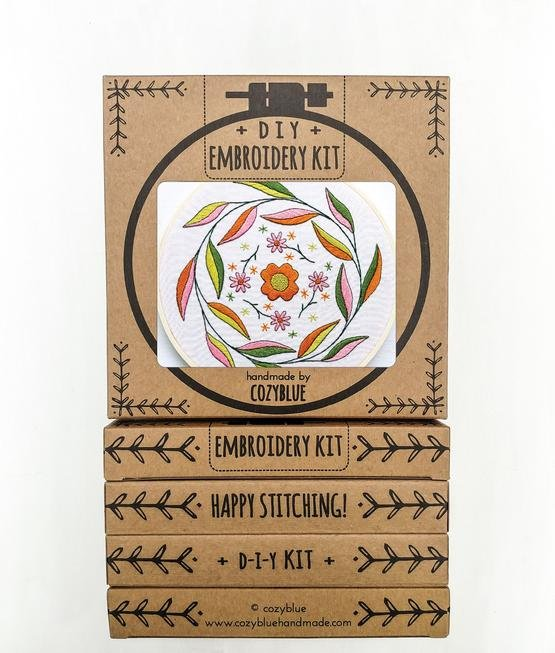 Mellow Mood - Cozy Blue - Embroidery Kit