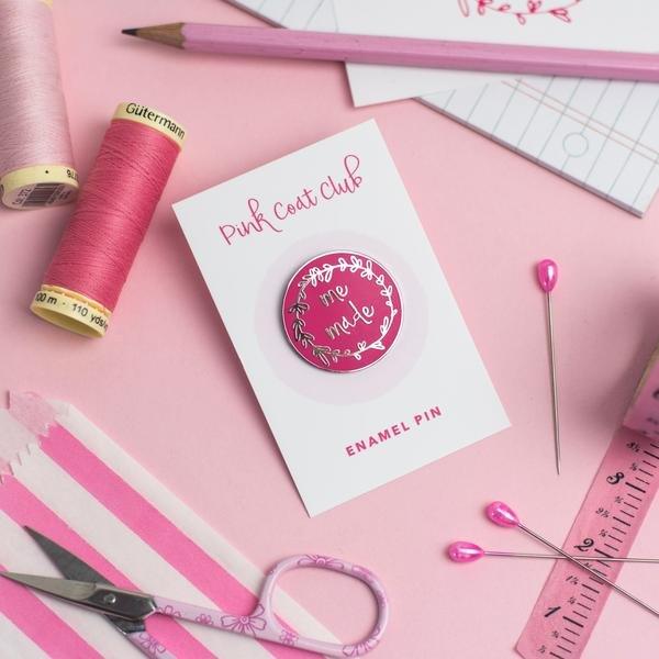 Me Made - Pink - Pink Coat Club Pin