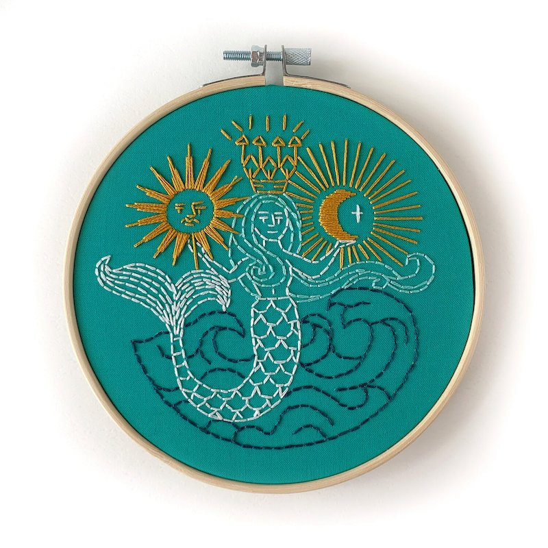 RikRack Embroidery Kit - Mermaid