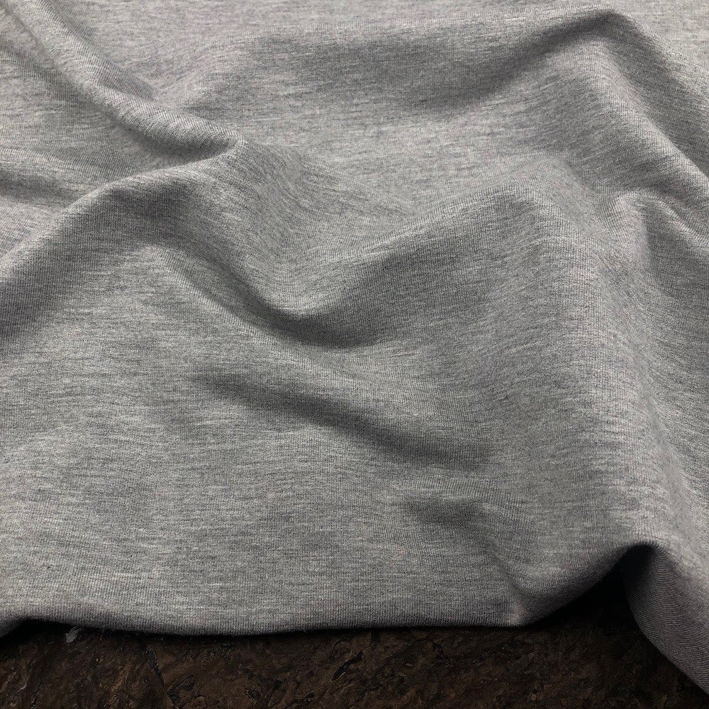 Mid Heather Grey - Bamboo Cotton French Terry Knit - Kendor