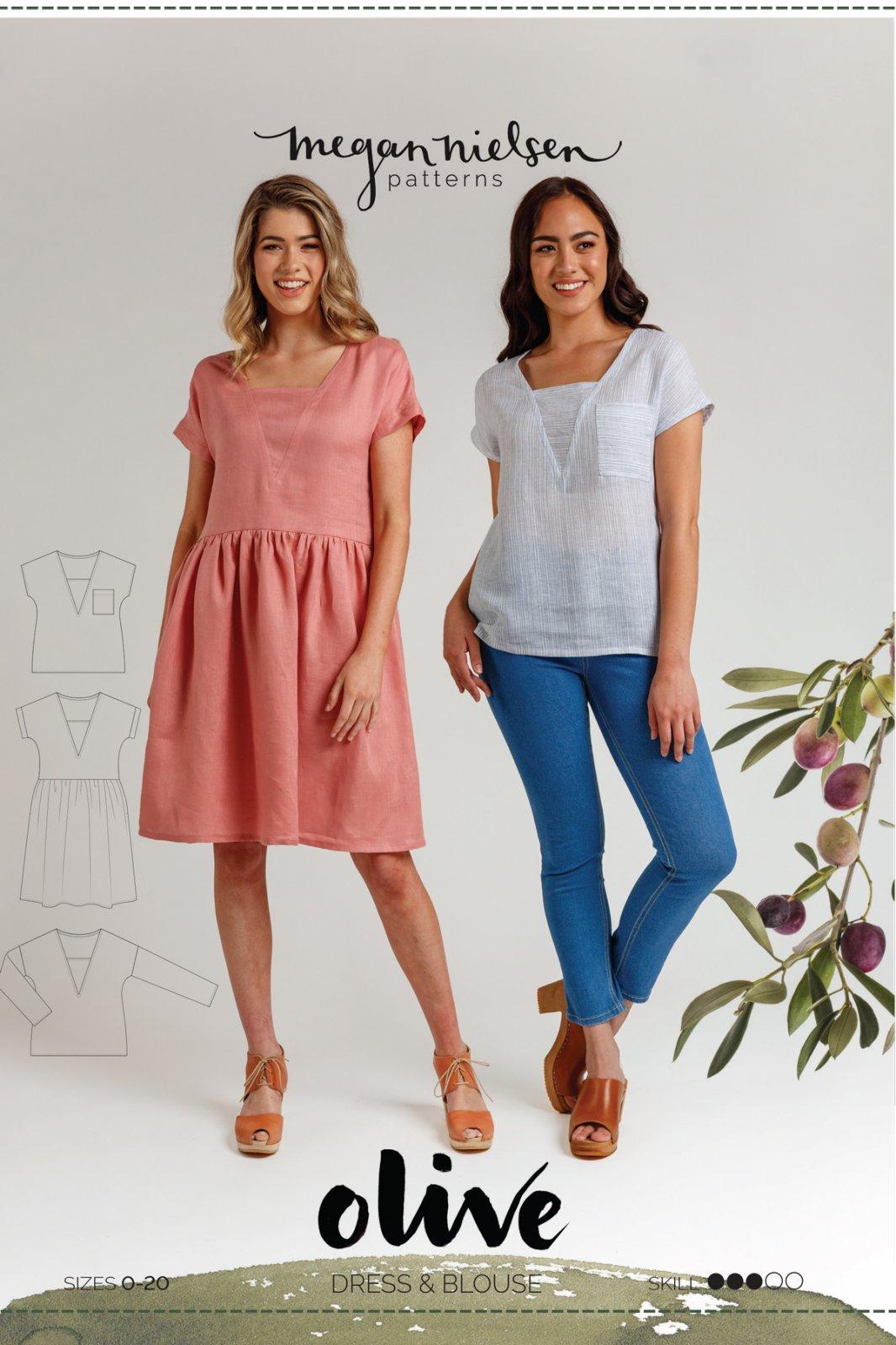 Olive Dress & Blouse - Megan Nielsen