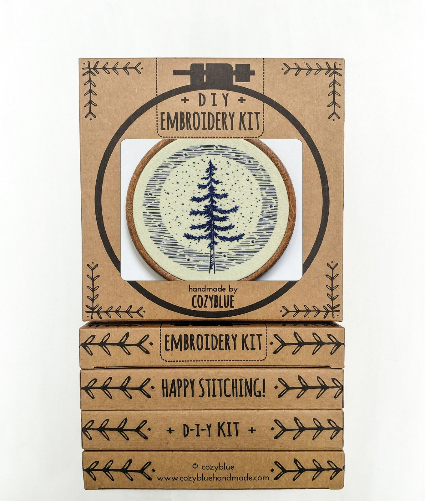 Moonlight Pine - Cozy Blue - Embroidery Kit