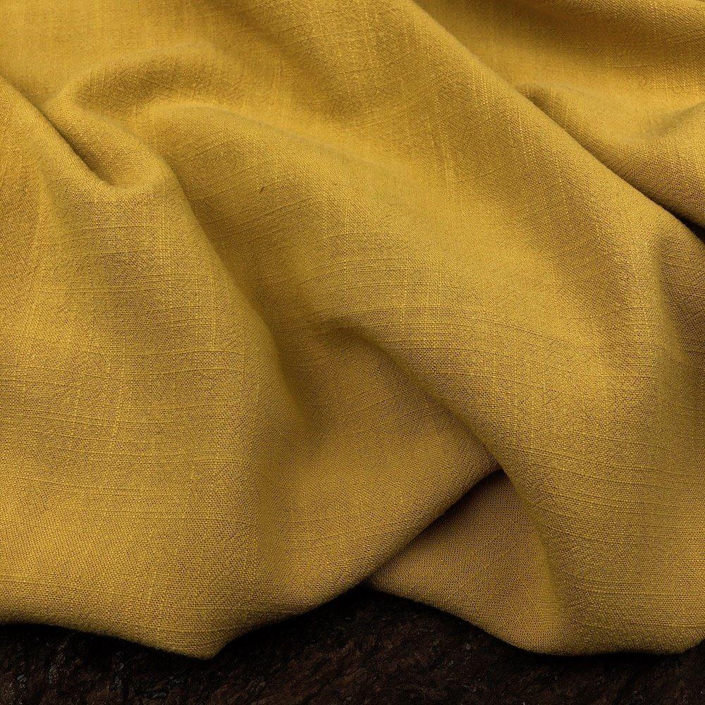 Mustard - Viscose Linen Silky Noil - Telio & Cie
