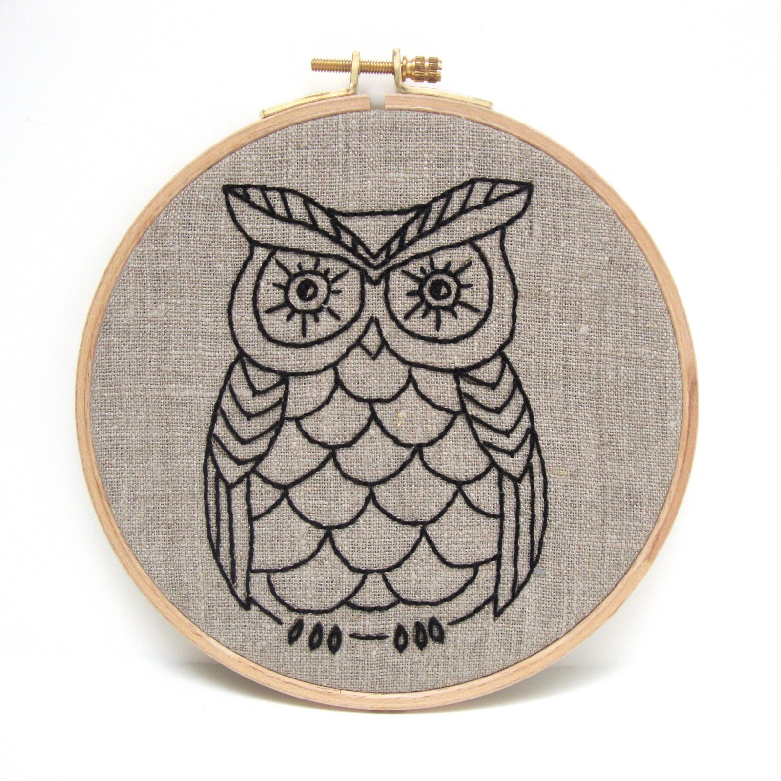 Owl - I Heart Stitch Art Embroidery Kit