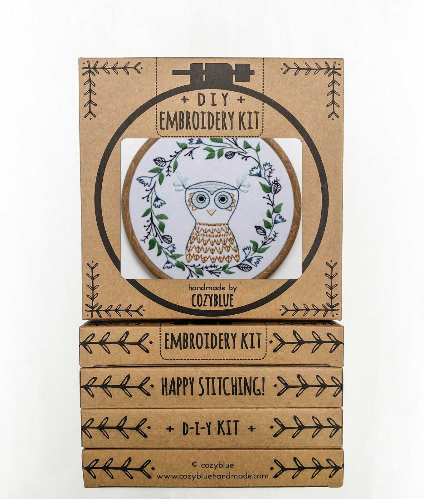 Owlette - Cozy Blue - Embroidery Kit