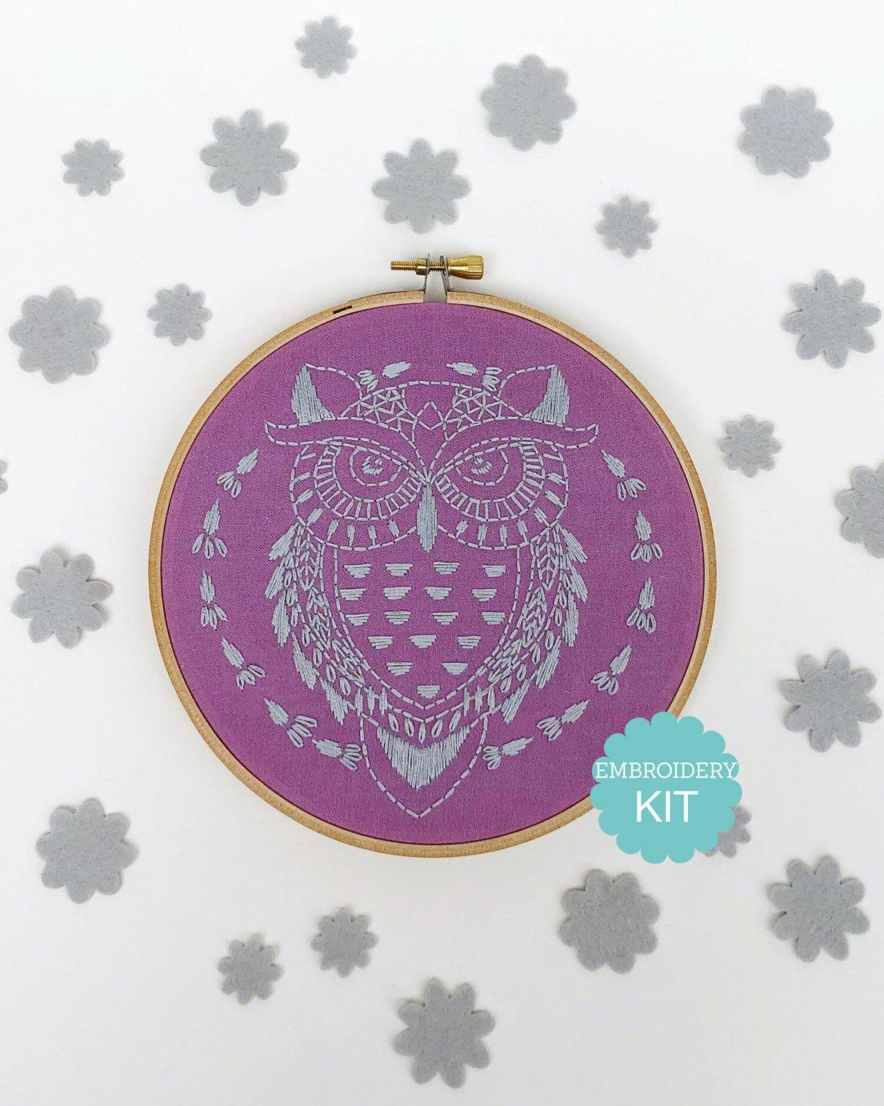 RikRack Embroidery Kit - Owl
