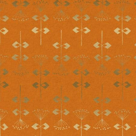 Neko and Tori Canvas - Penpengusa Acorn Metallic - Cotton + Steel