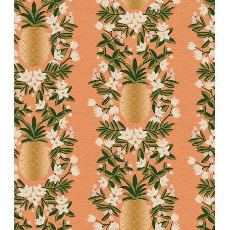 Pineapple Stripe Peach - Primavera Canvas - Rifle Paper Co