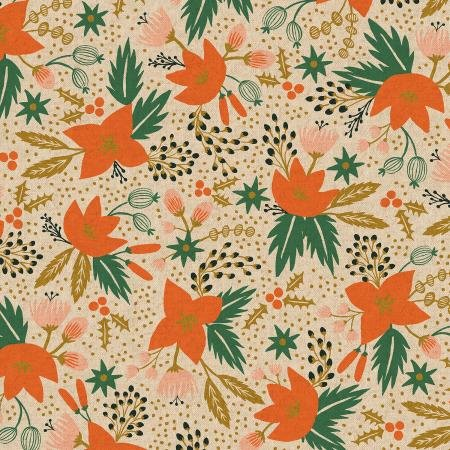 Holiday Classics Canvas - Poinsettia Natural - Rifle Paper Co.