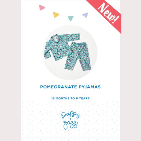 Pomegranate Pajamas - Poppy & Jazz Patterns