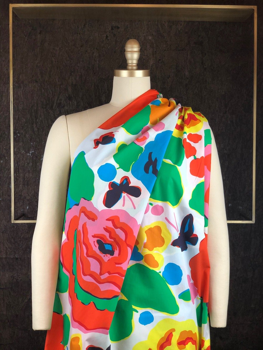 Rainbow Floral - Cotton Woven - Italy