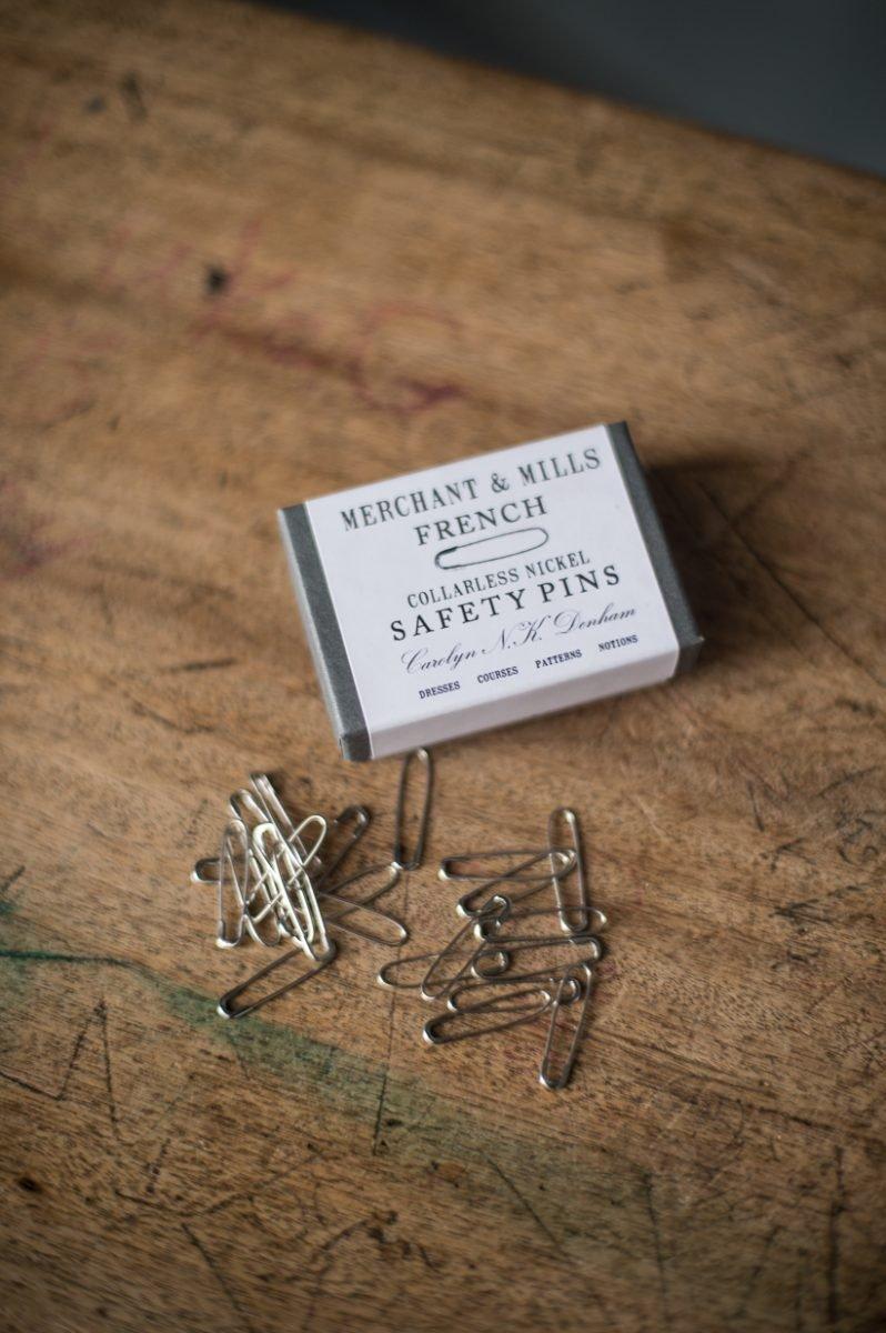 Nickel - French Safety Pins - Merchant & Mills