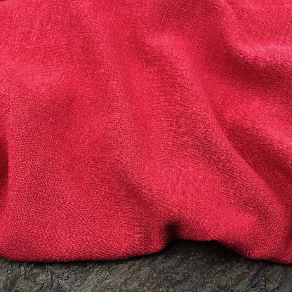 Red - Viscose Linen Silky Noil - Telio & Cie