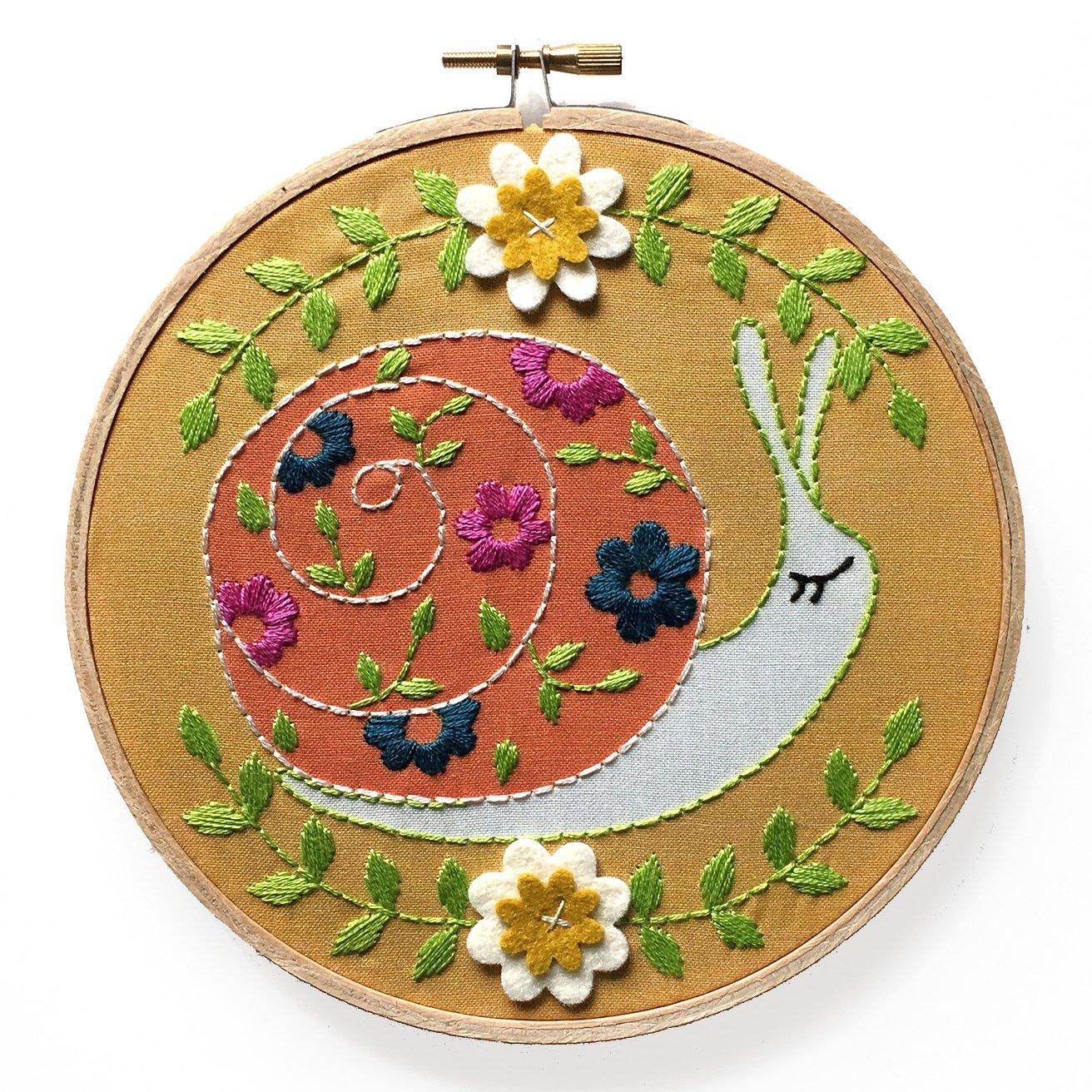 Snail - RikRack Embroidery Kit