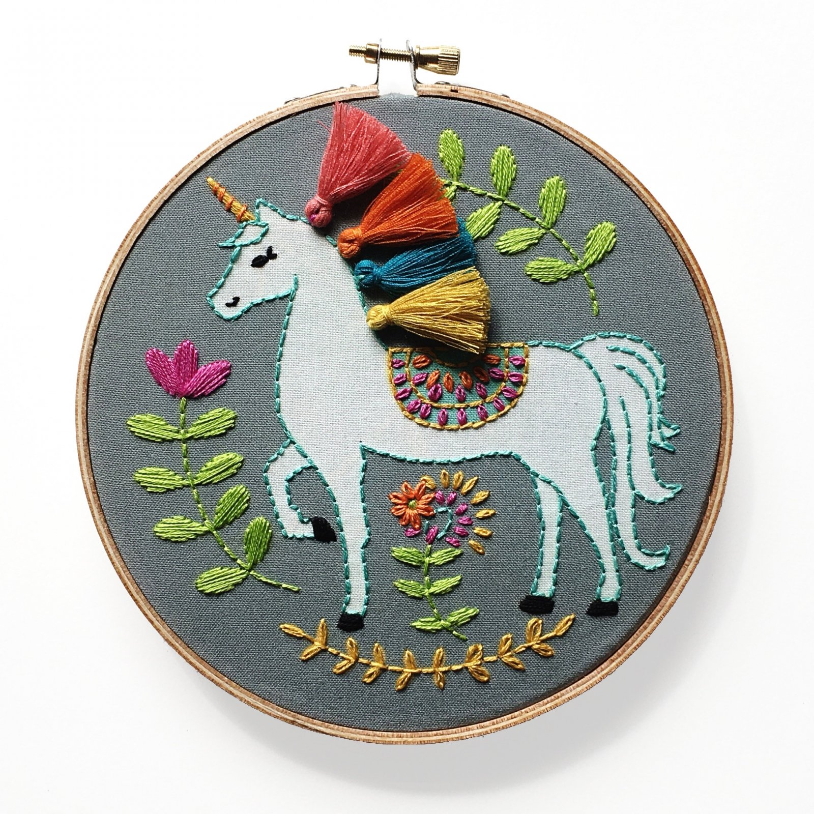 RikRack Embroidery Kit - Unicorn