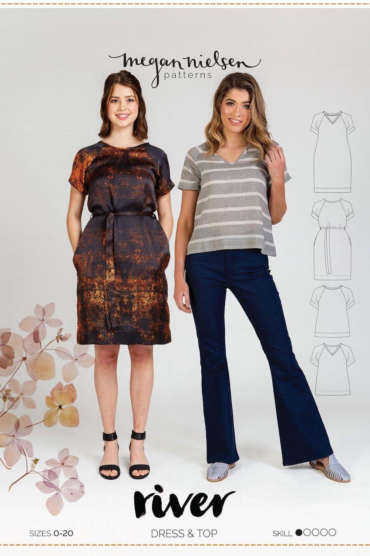 River Dress & Top - Megan Nielsen