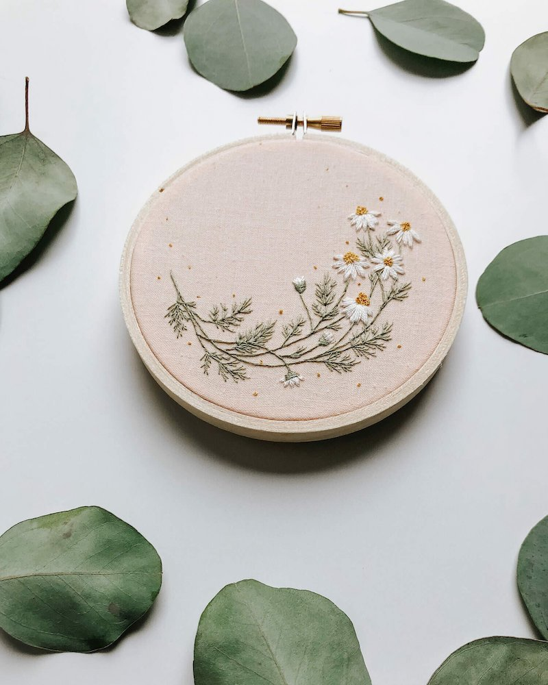 Roman Chamomile - Harvest Goods Co. Embroidery Kits