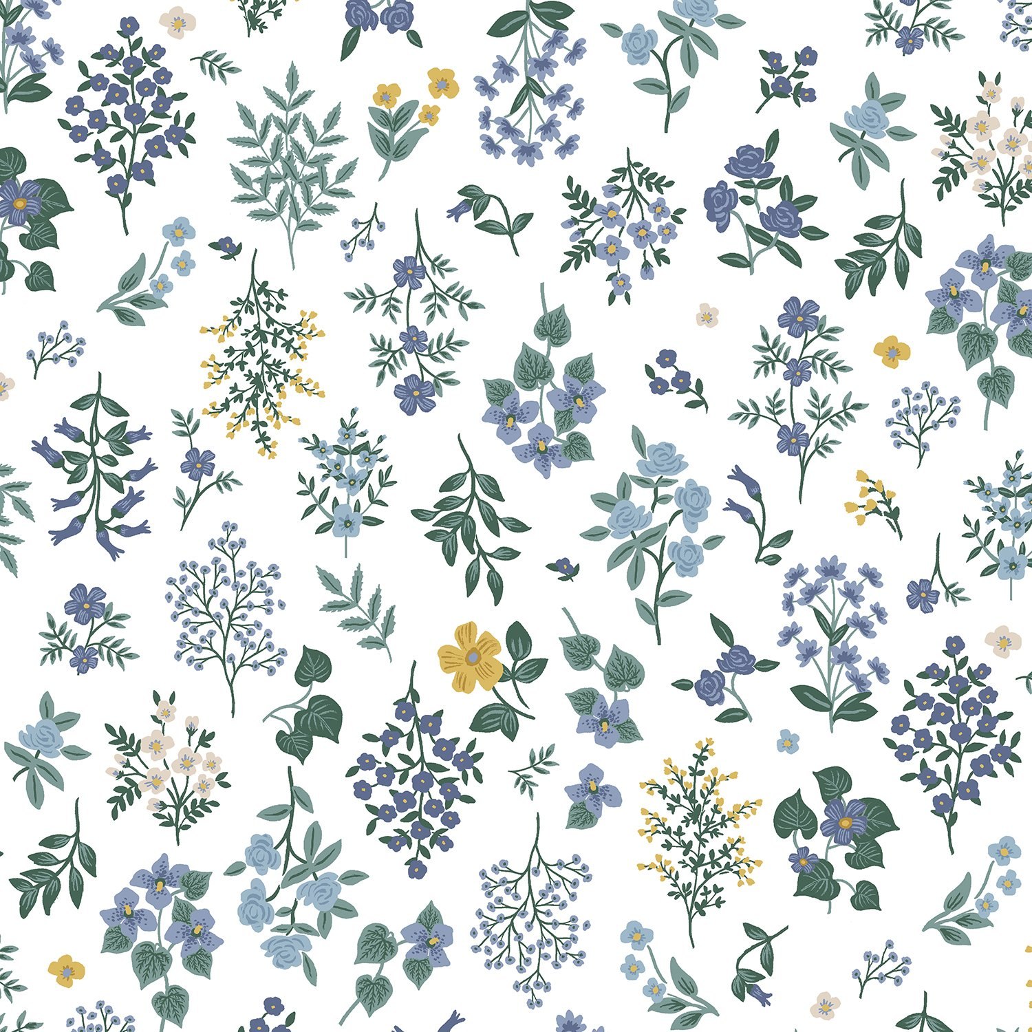 Hawthorne Periwinkle - Strawberry Fields Cotton - Rifle Paper Co.