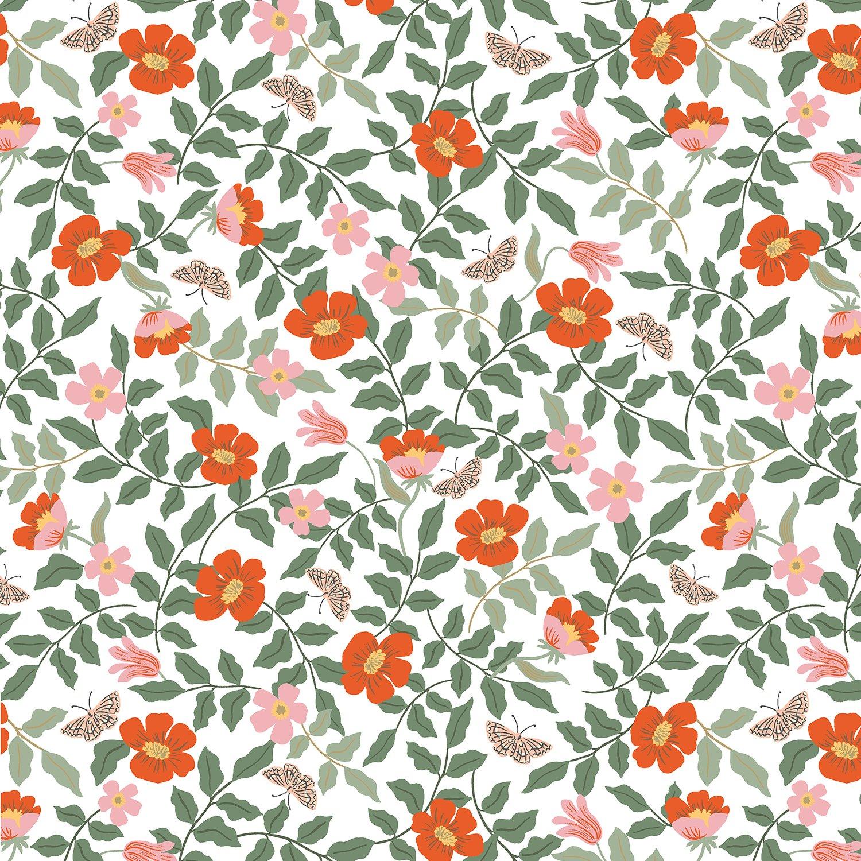 Strawberry Fields Cotton - Primrose Ivory - Rifle Paper Co.