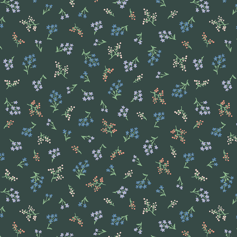 Strawberry Fields Cotton - Petites Fleurs Hunter - Rifle Paper Co.