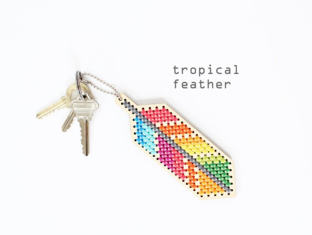 Tropical Feather (Wood Kit) - Diana Watters