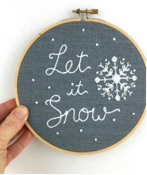 Let It Snow - I Heart Stitch Art Embroidery Kit
