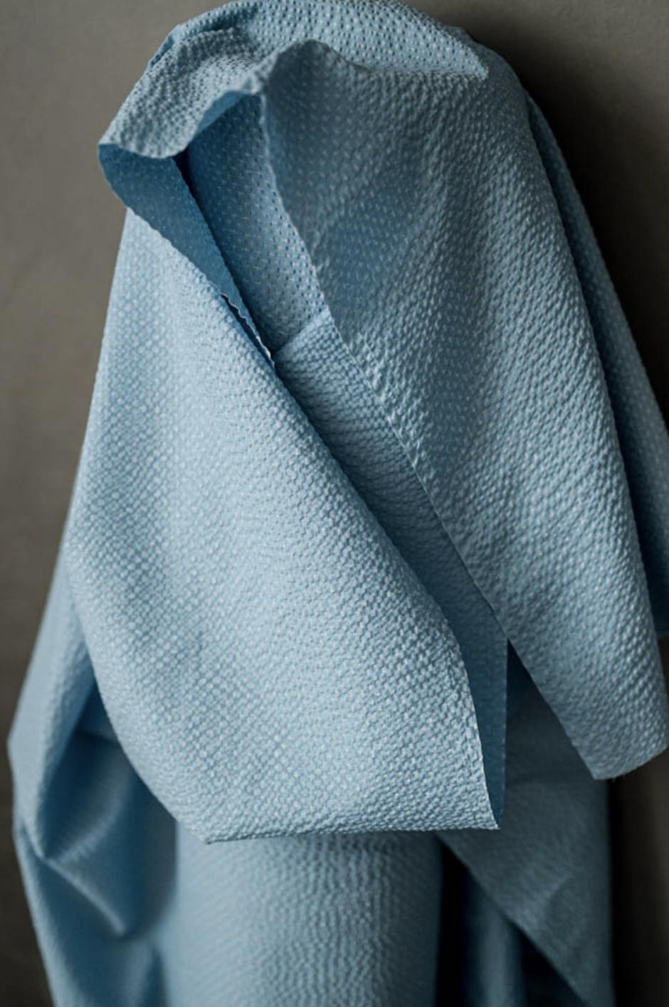 Blue Tottorri Cross - Japanese Seersucker - Merchant & Mills