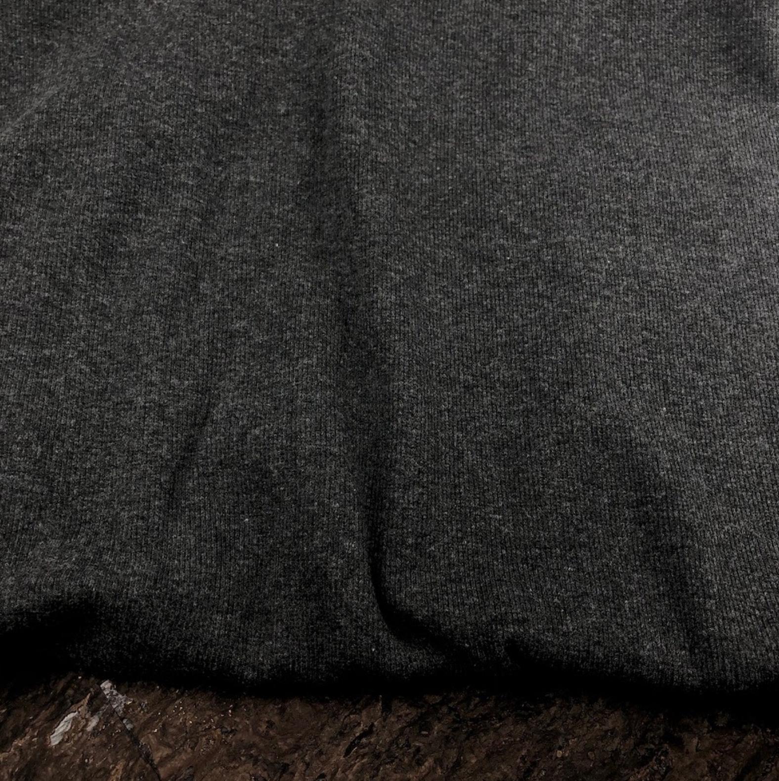 Bamboo Cotton 2x2 Rib Knit - Charcoal Mix - Kendor