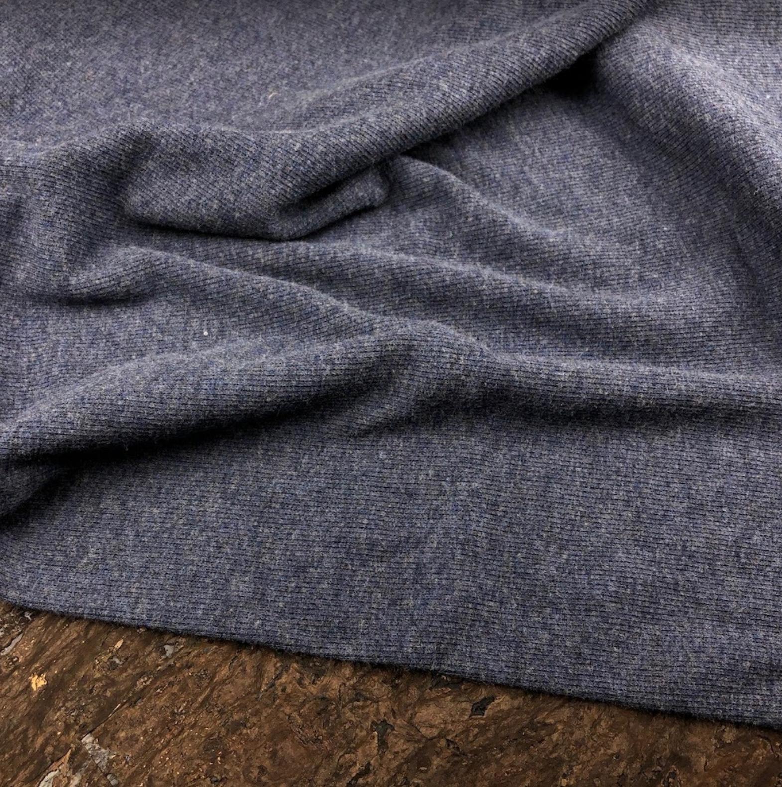 Bamboo Cotton 2x2 Rib Knit - Heather Lake - Kendor