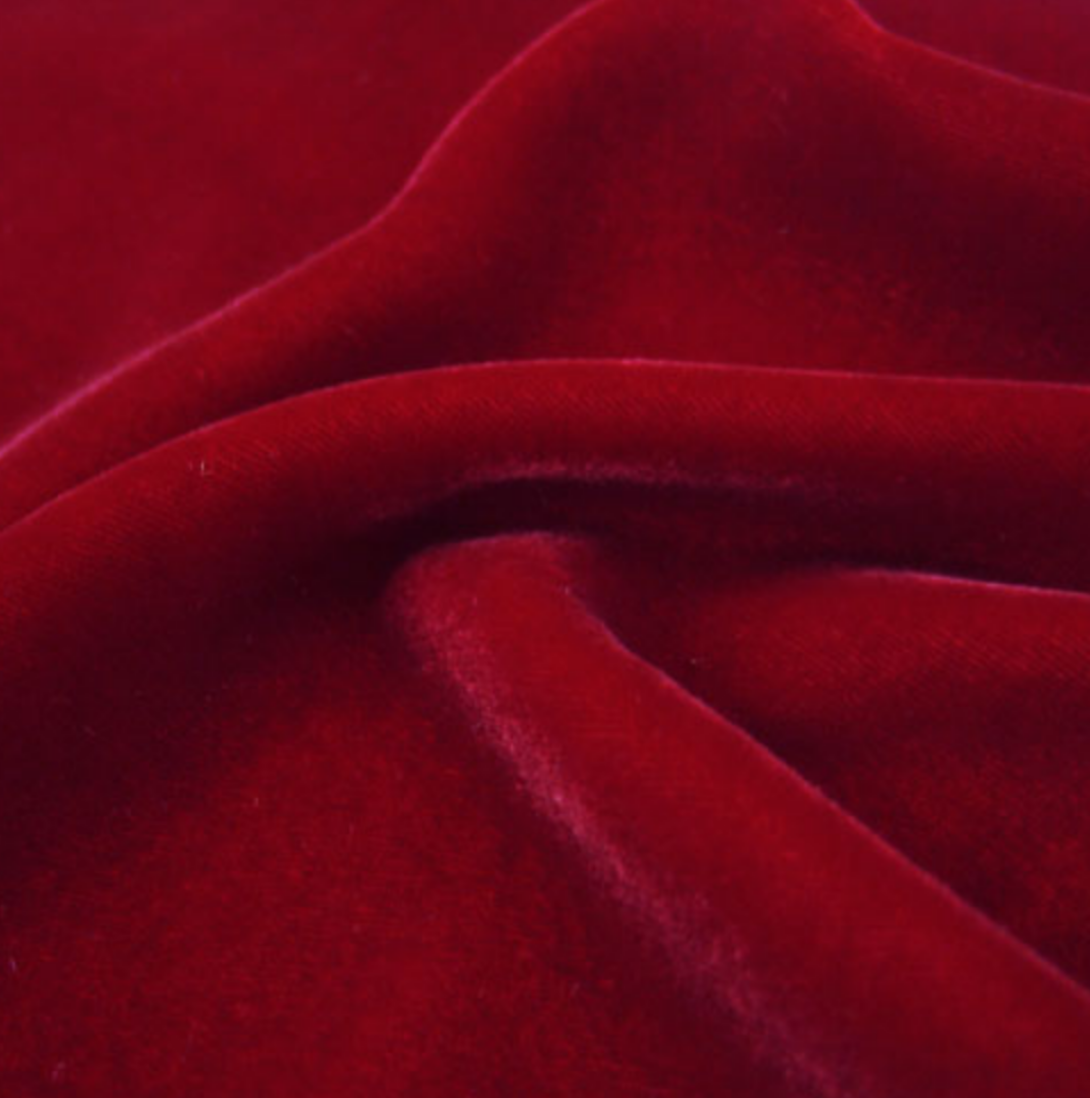 Scarlet - Silk Rayon Velvet - Exotic Silks