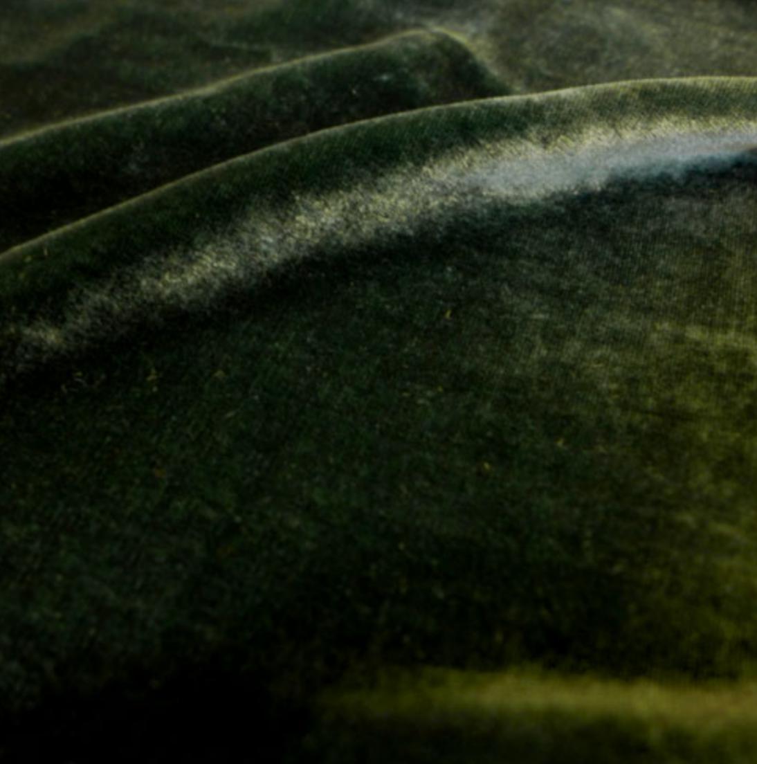 Duck Green - Silk Rayon Velvet - Exotic Silks