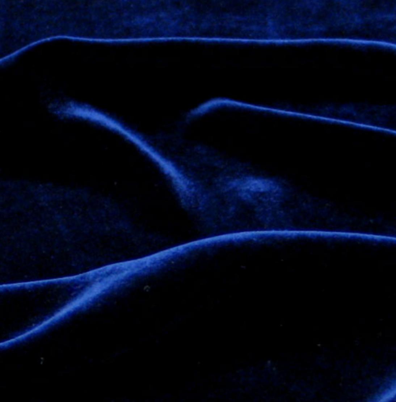 REMNANT - 1/2 yd - Navy Blue - Silk Rayon Velvet - Exotic Silks