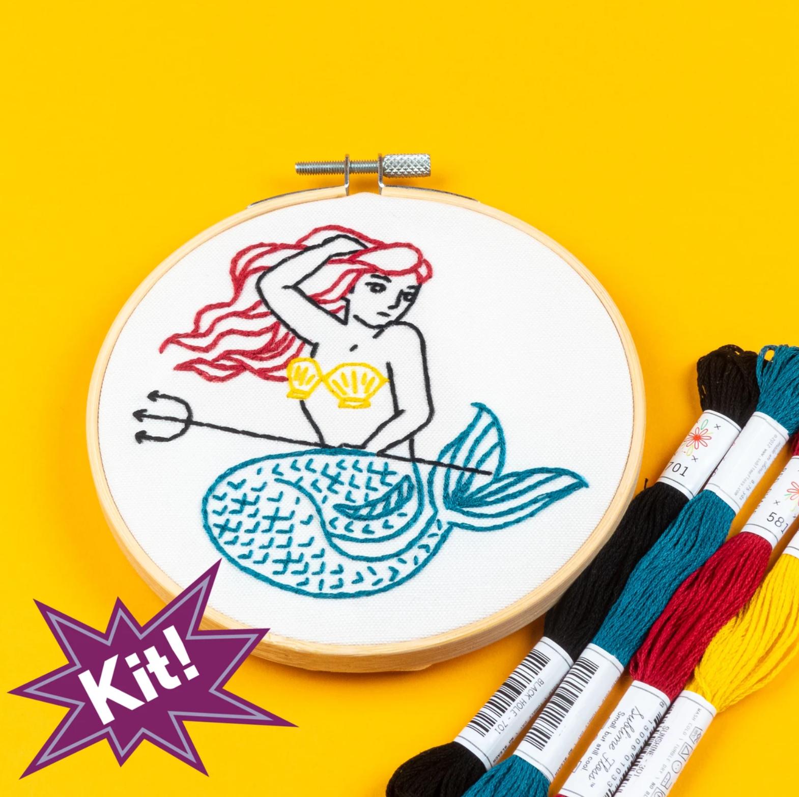 PopLush Embroidery Kit 5 - Mermaid
