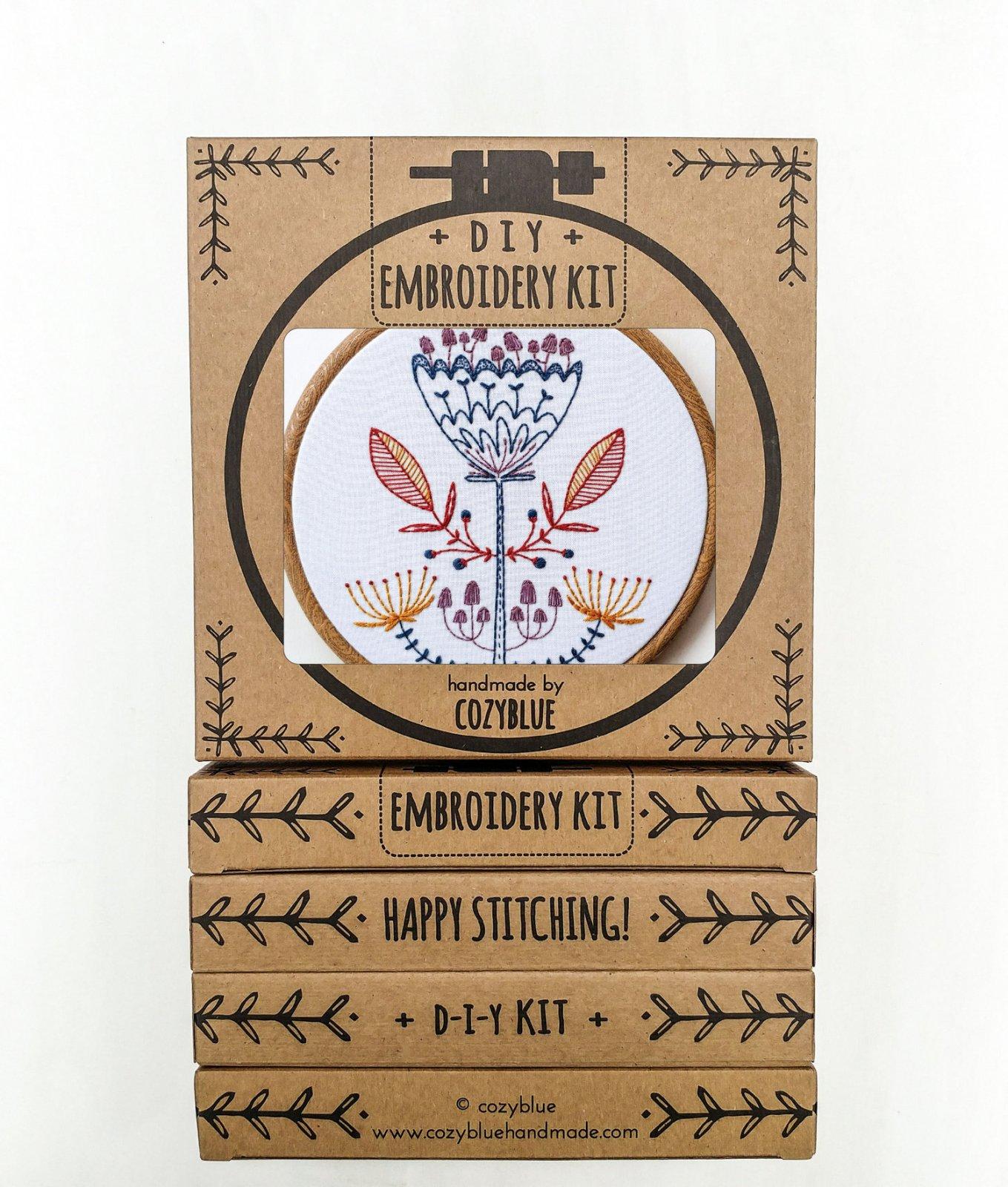 Shroom Bloom - Cozy Blue - Embroidery Kit