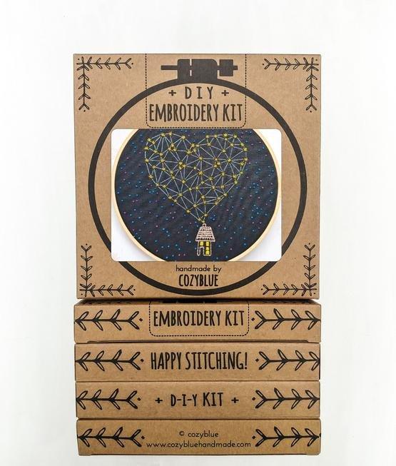 Stargazing - Cozy Blue - Embroidery Kit
