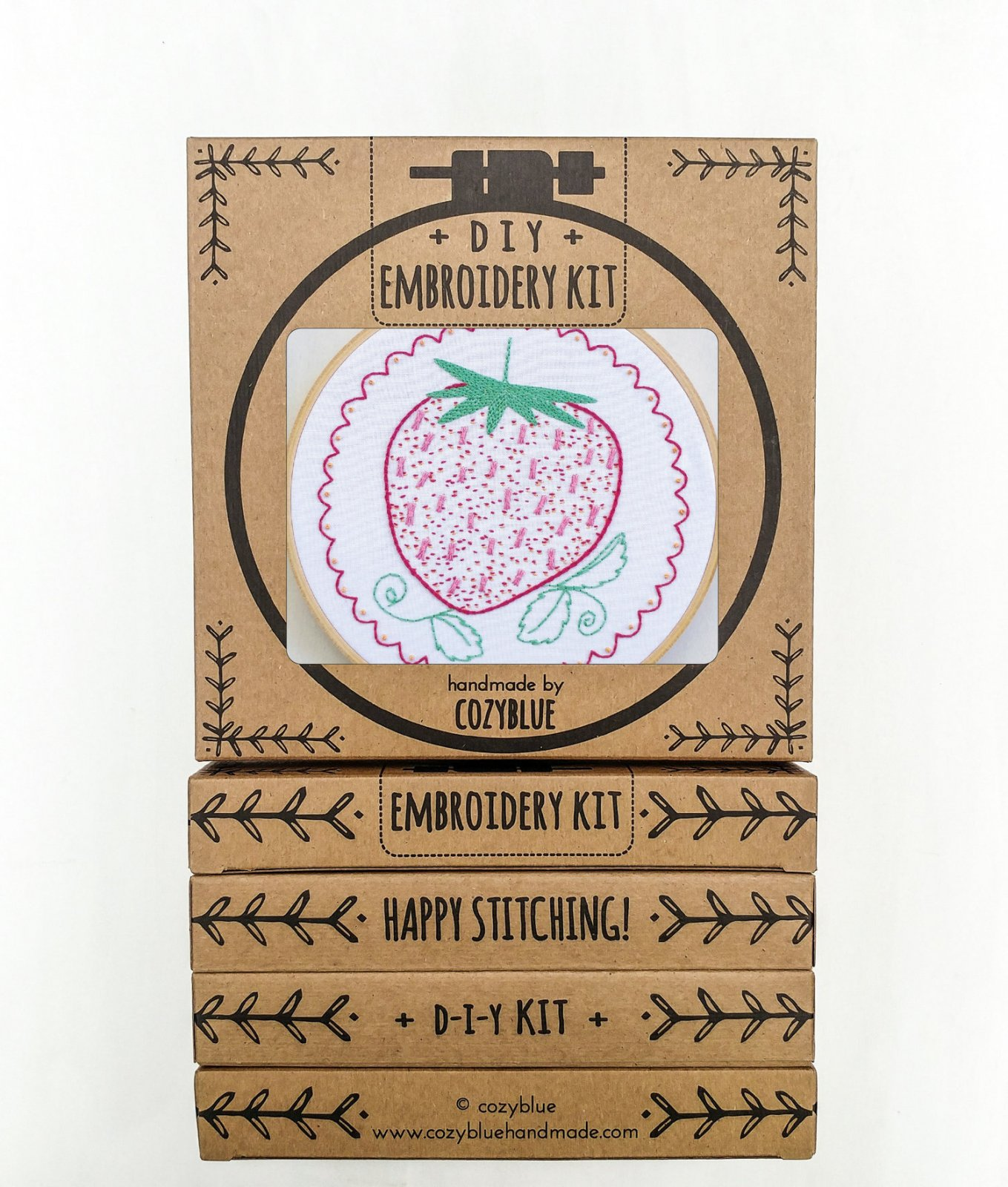 Strawberry - Cozy Blue - Embroidery Kit