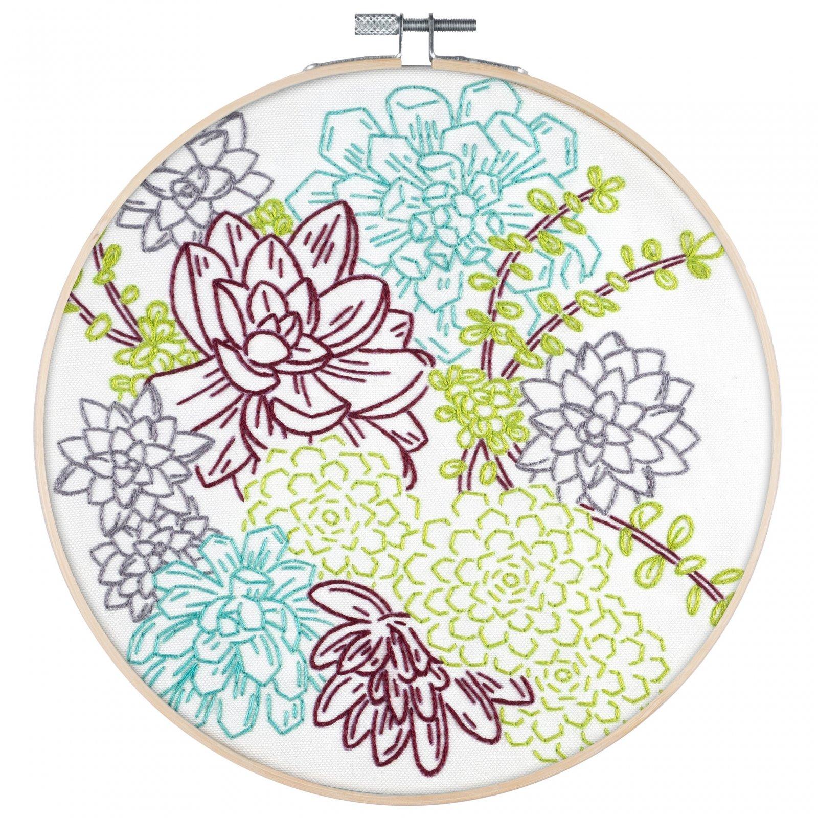 PopLush Embroidery Kit 8 - Succulent Garden
