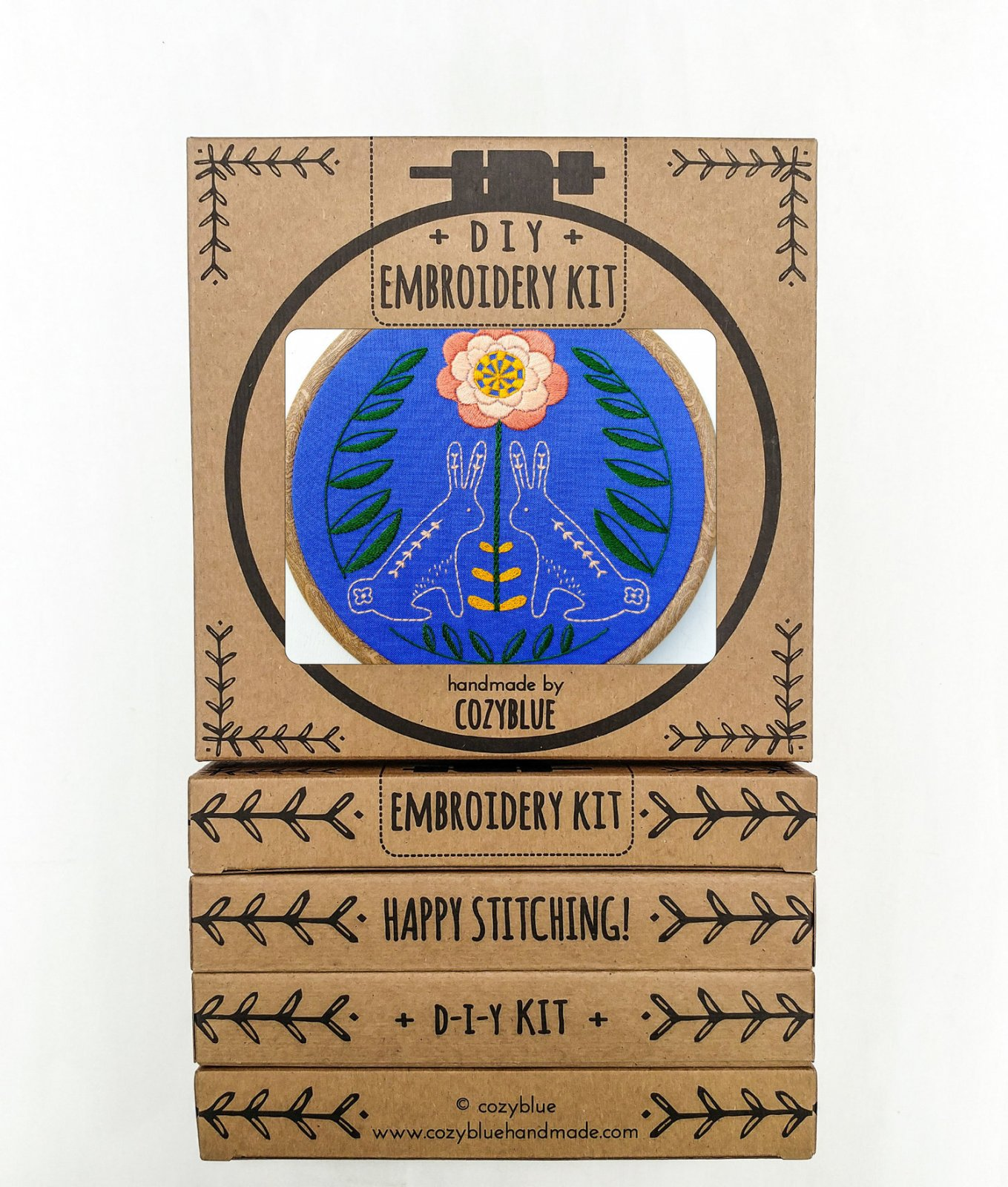 Sunny Bunnies - Cozy Blue - Embroidery Kit