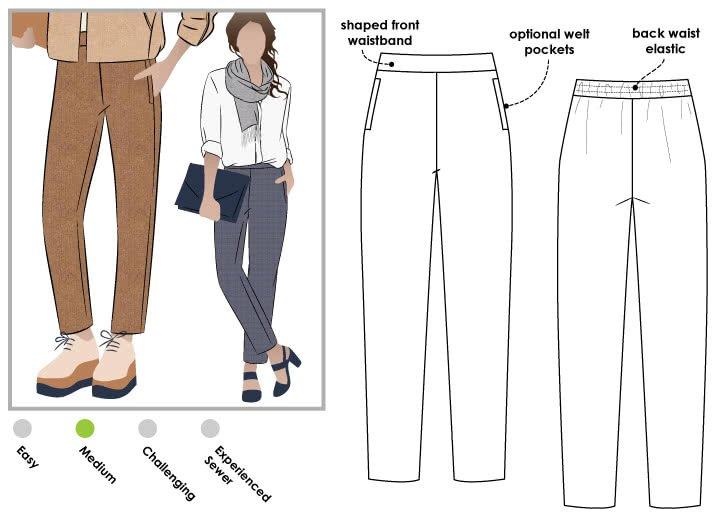 Talia Pants - Style Arc