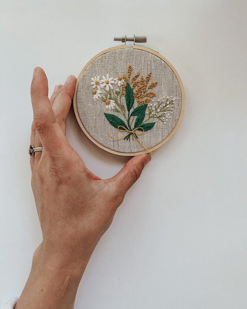 Tiny Bow Posy - Harvest Goods Co. Embroidery Kits