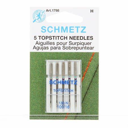 Topstitch Needles, 16/100 - Schmetz