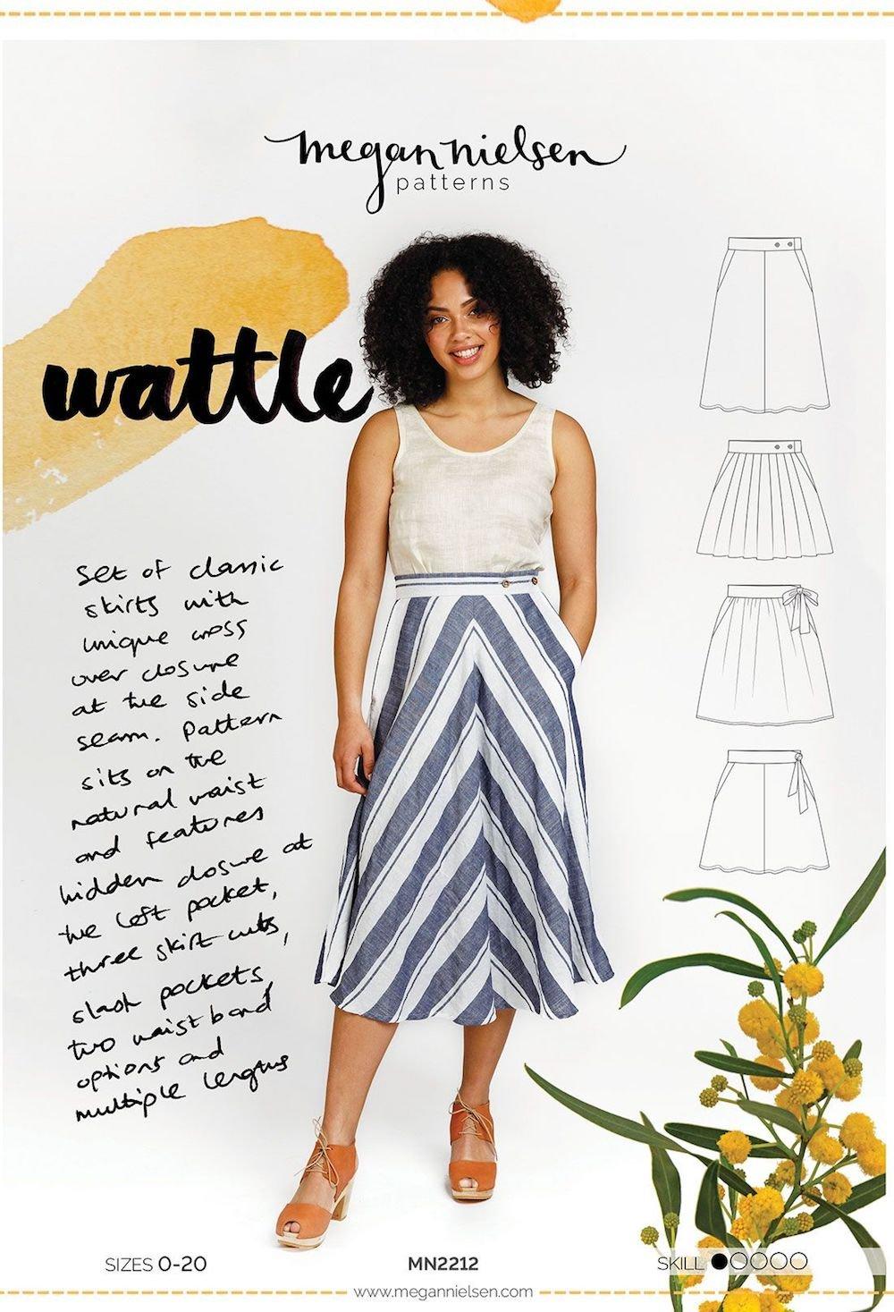 Wattle Skirt - Megan Nielsen