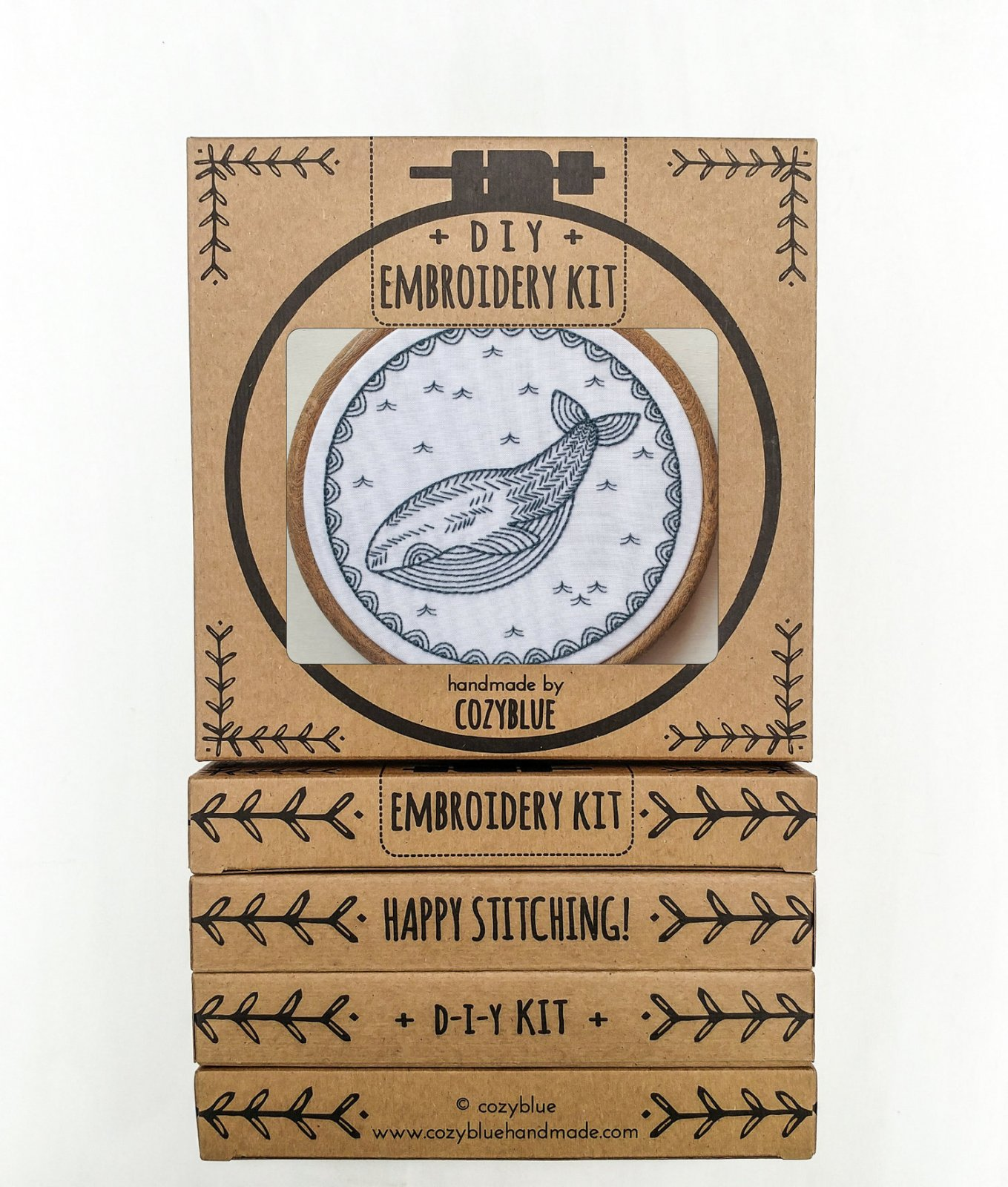 Whale of a Time - Cozy Blue - Embroidery Kit