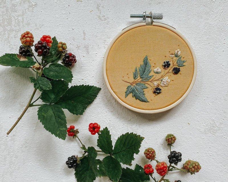 Wild Blackberries - Harvest Goods Co. Embroidery Kits