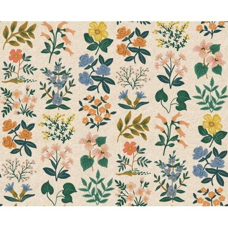 Wildflower Field Natural - Meadow Canvas - Rifle Paper Co